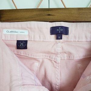 NYDJ Jeans - NYDJ, Clarissa Ankle Pink Denim Jeans, 14